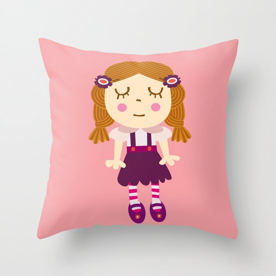sleep doll Throw Pillow