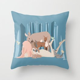 Earth-Mother Throw Pillow