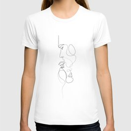 Lovers - Minimal Line Drawing Art Print 2 T-shirt
