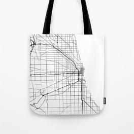 Minimal City Maps - Map Of Chicago, Illinois, United States Tote Bag