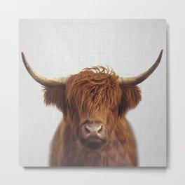 Highland Cow - Colorful Metal Print