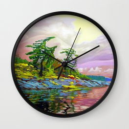 Wind Sculpture by Amanda Martinson Wall Clock