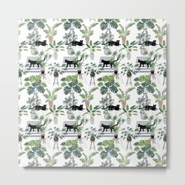 cats in the interior pattern Metal Print