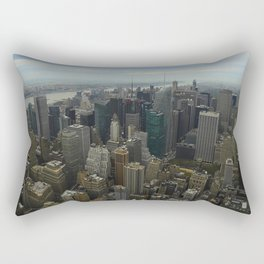 Bird's Eye Time Square Rectangular Pillow
