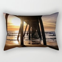 "Hermosa Beach ""Under the Pier"" Rectangular Pillow"