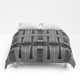 Art Deco 32 . Graffiti black and white Comforters
