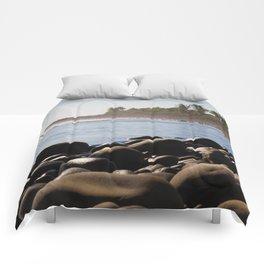 Stones on the beach Comforters