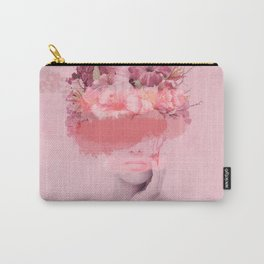 Woman in flowers Carry-All Pouch