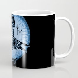 Viking Raven of Death - Blue Coffee Mug