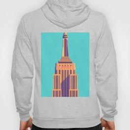 Empire State Building New York Art Deco - Cyan Hoody
