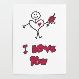 "Heartman ""I Love You"" Poster"