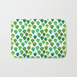Green gemstone pattern. Bath Mat