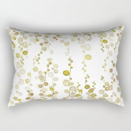 golden string of pearls watercolor Rectangular Pillow