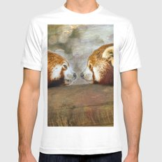 Nose to Nose Mens Fitted Tee MEDIUM White