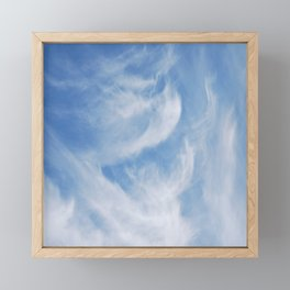 Clouds and sky Framed Mini Art Print