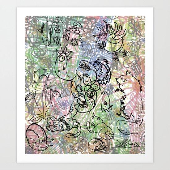 Anymanimals+Whatlifethrowsatyou    Nonrandom-art1 Art Print