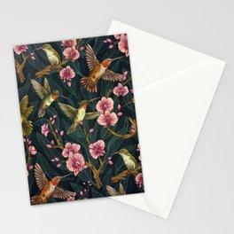 Hummingbird Pattern Stationery Cards