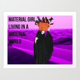 material girl Art Print
