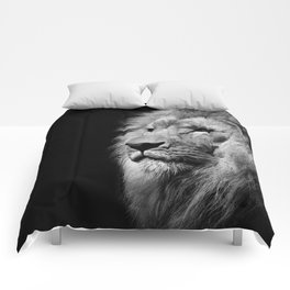Lion Black and white Comforters