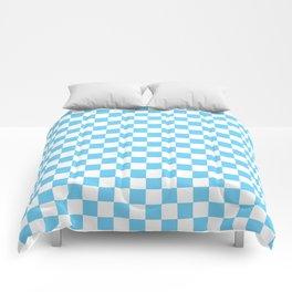 Light Blue Checkerboard Pattern Comforters