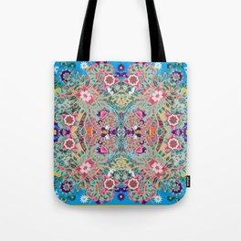 Mandala - Turquoise Boho Tote Bag