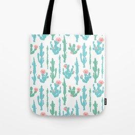 Cactus Flower Print Tote Bag