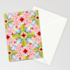 Pink Paisley Flowers Stationery Cards