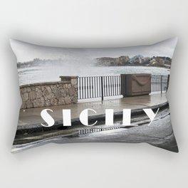 Power of Sea - Giardini Naxos - Sicily Rectangular Pillow