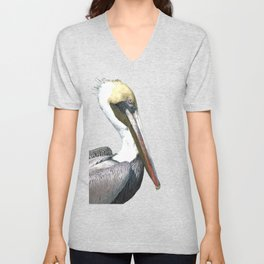 Pelican Portrait Unisex V-Neck