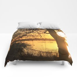 Floodplain at Sunset 2 Comforters