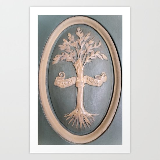 Versallies, France, French wood door Art Print