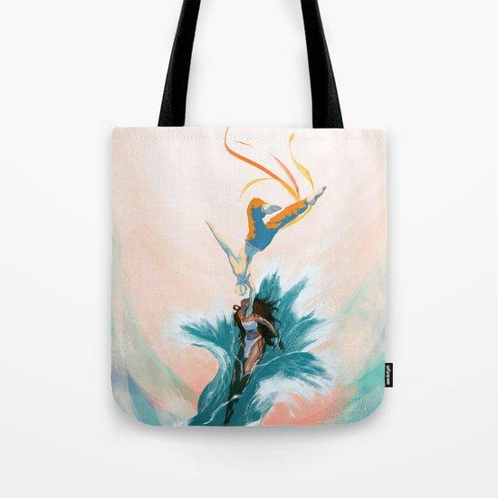 Katara and Aang Tote Bag