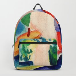 August Macke - Picnic On The Beach - Digital Remastered Edition Backpack