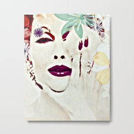 SHE COMES IN COLORS Metal Print
