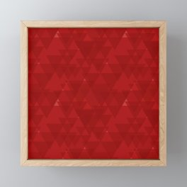 Delicate maroon triangles in the intersection and overlay. Framed Mini Art Print