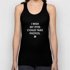 Eyes could take photos Unisex Tank Top