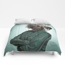 Chinese hairless crested dog Comforters