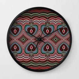 Wavy texture diamond pattern Wall Clock