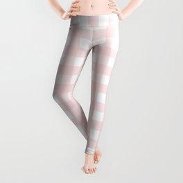 Pastel pink gingham pattern Leggings