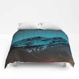 Mountains at night I // Boulder Colorado Comforters