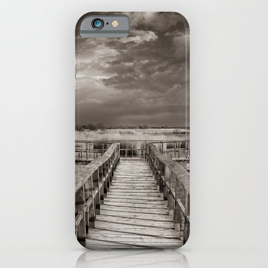 Stormy weather at the lake. Vintage iPhone & iPod Case