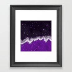 Ace Pride Flag Galaxy Framed Art Print