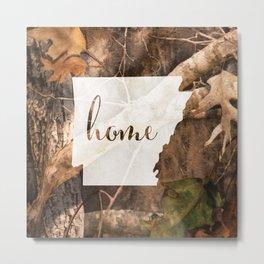 Arkansas is Home - Camo Metal Print