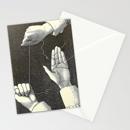 Curiosités physiologiques - Guyot-Daubès - 1885 Surrealism Hand Tie Nots Black And White Ink Illustr Stationery Cards
