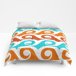 Abstract Waves ~ Retro Summer Pattern Comforters