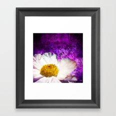 Krinkle White Peony On Purple Framed Art Print