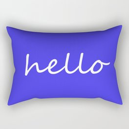 hello blue & white Rectangular Pillow