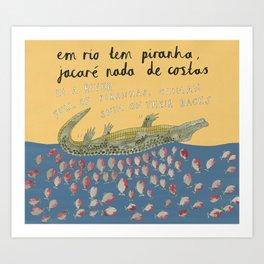 A River Full of Piranhas Art Print