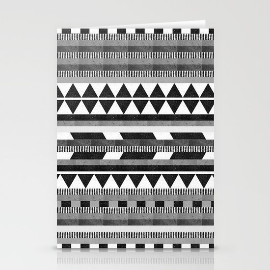 DG Aztec No.1 Monotone Stationery Cards