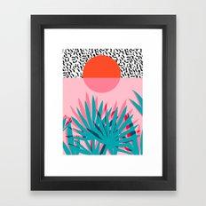 Whoa - palm sunrise southwest california palm beach sun city los angeles retro palm springs resort  Framed Art Print